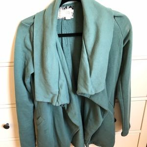 Turquoise Anthropologie jacket with zipper